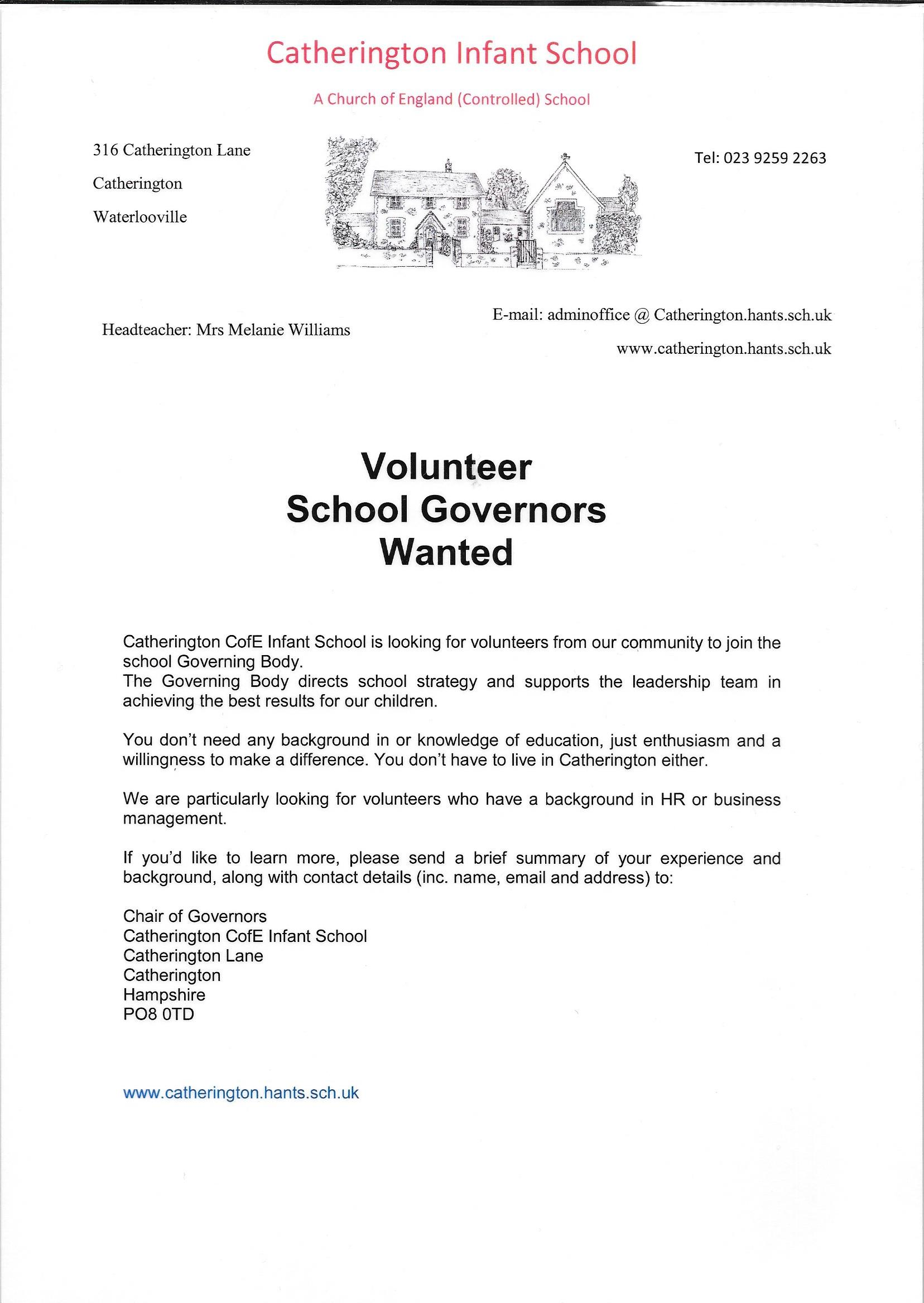 Become a Catherington School Governor