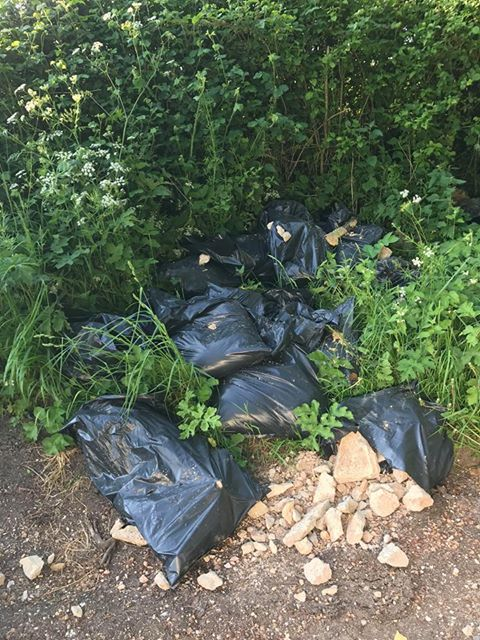 Fly tipping in Hyden Lane