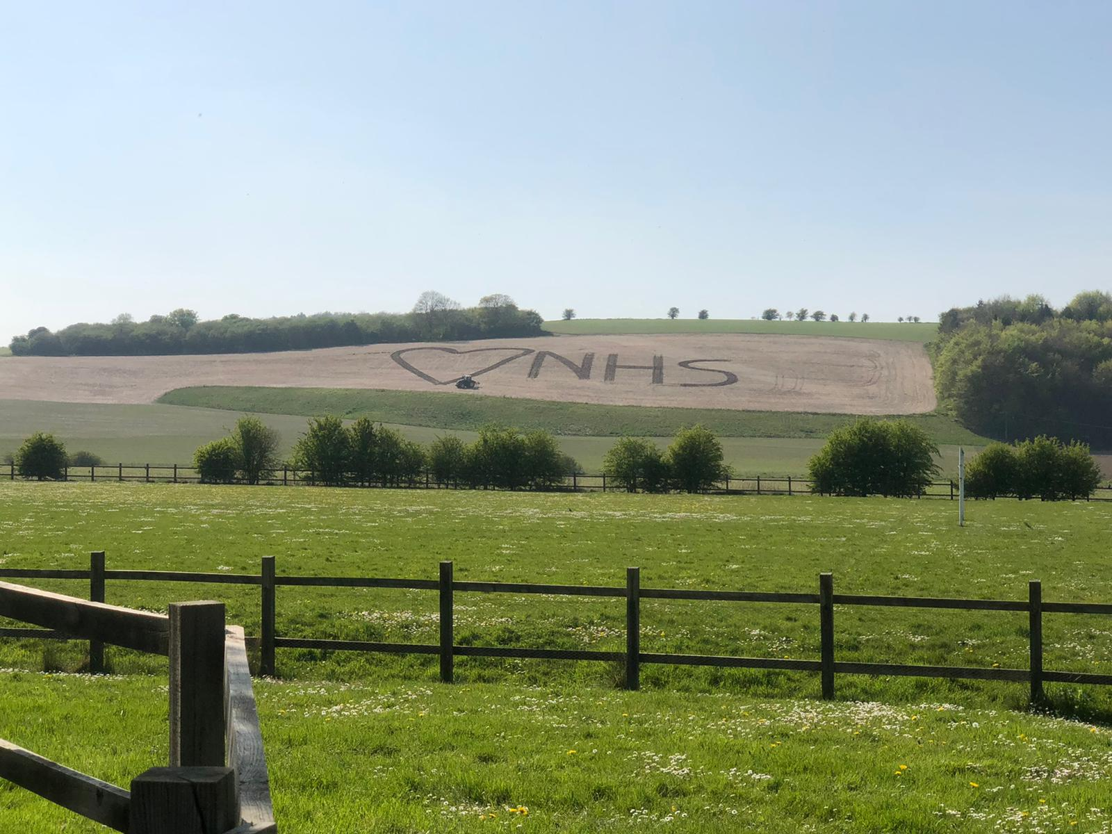 Love the NHS  - ploughed into the landscape. With Extra Photos
