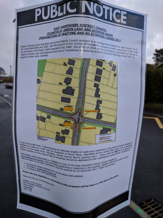 Have Your Say - Traffic Regulation Order Green Lane/Redwing Road
