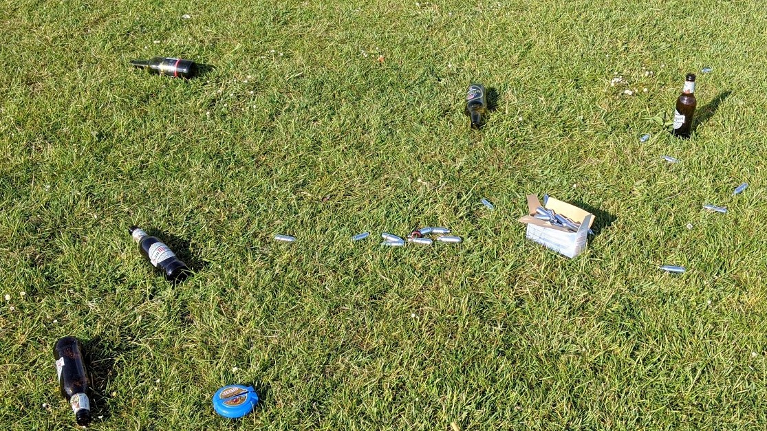 Peel Park litter clear-up