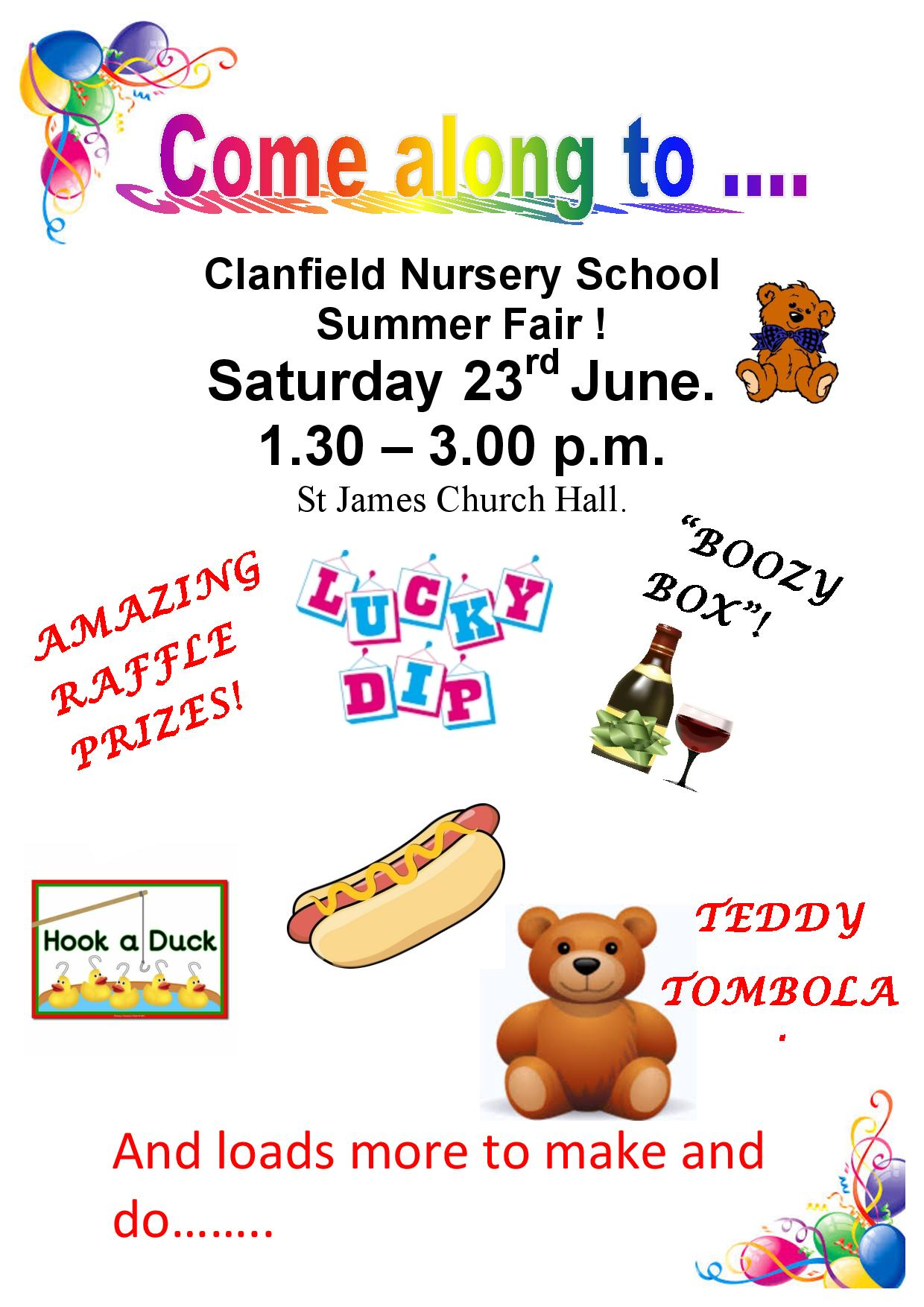 Clanfield Nursery School Summer Fair