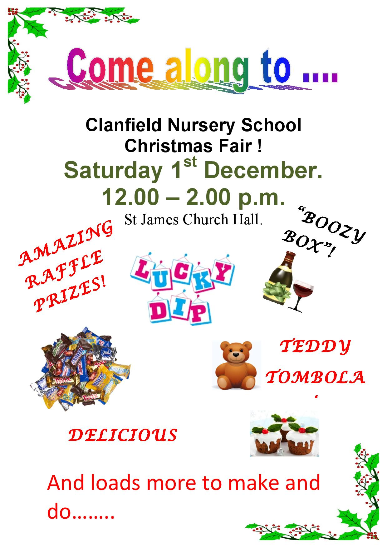 Clanfield Nursery School Christmas Fair