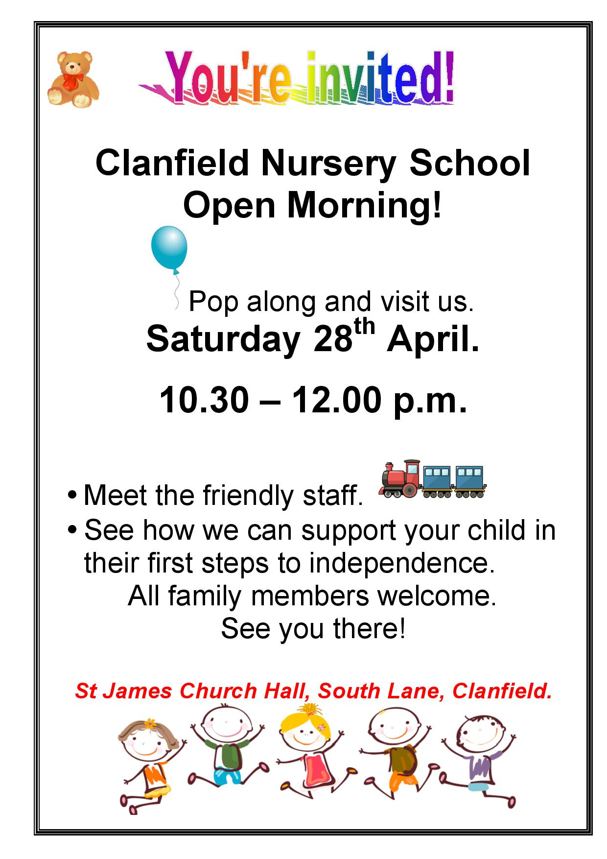 Come and Play - Clanfield Nursery School