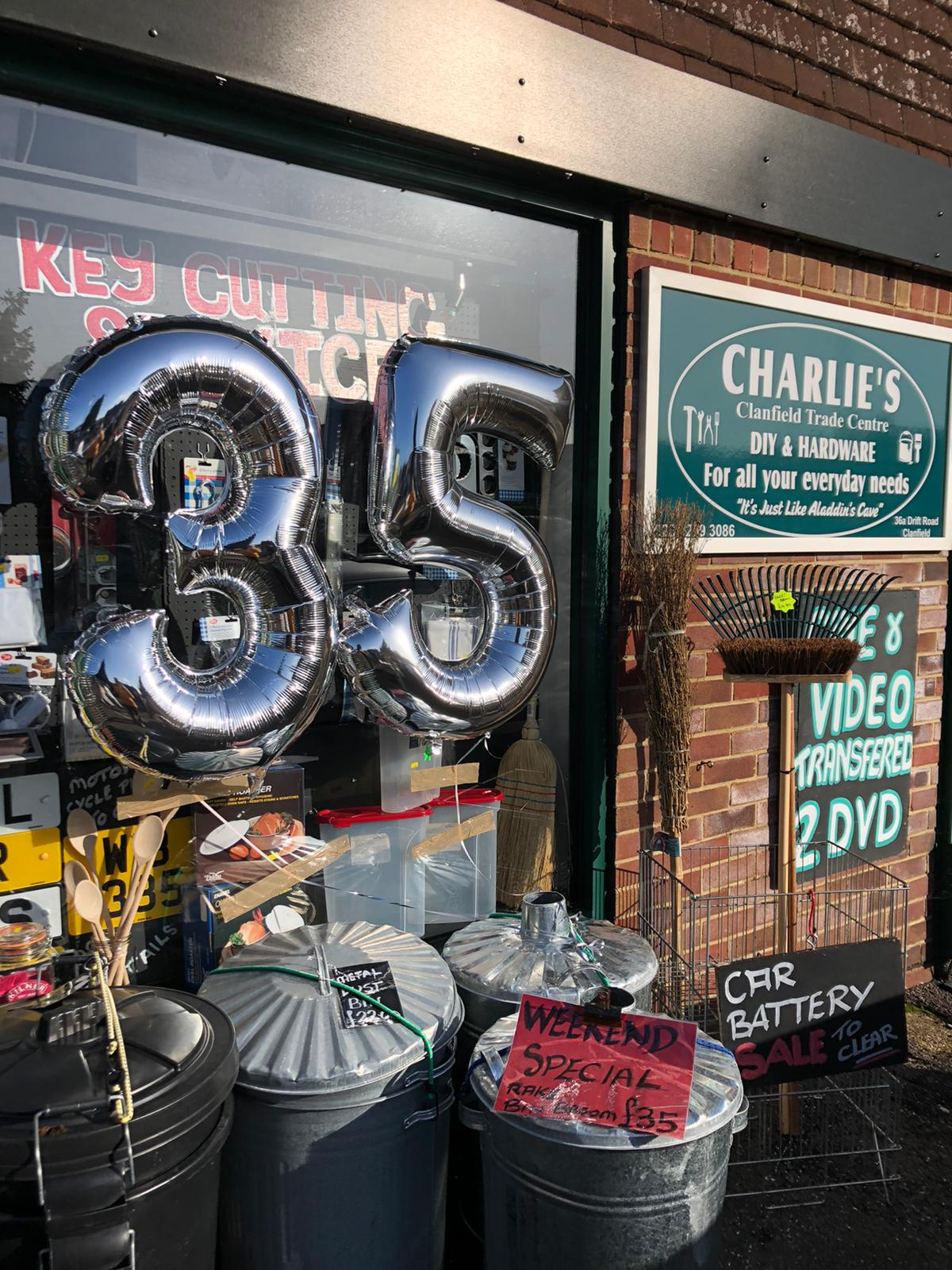 Charlie's Clanfield Trade Centre celebrates 35 years!
