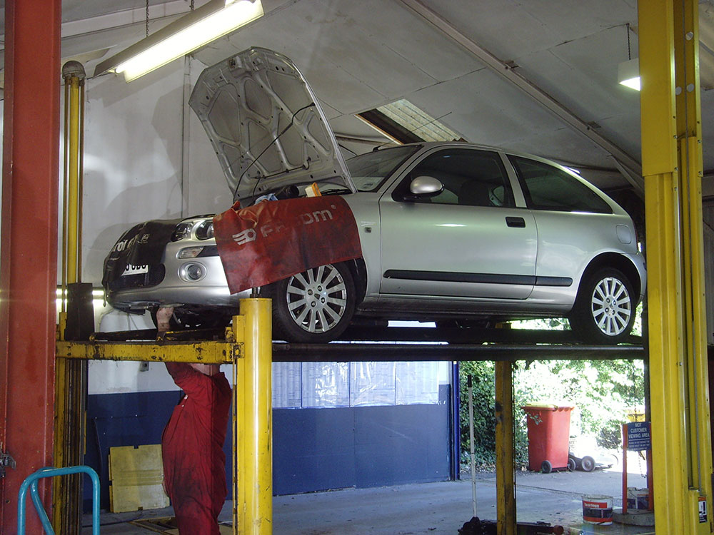 Rover being Serviced