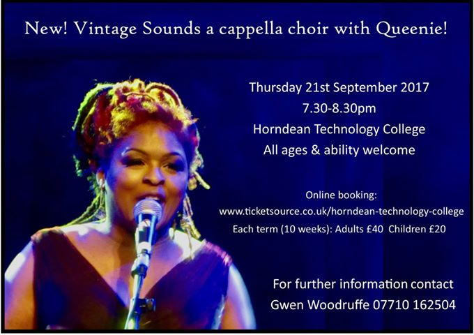 A cappella vintage sounds fun-key choir starting at Horndean Technology College