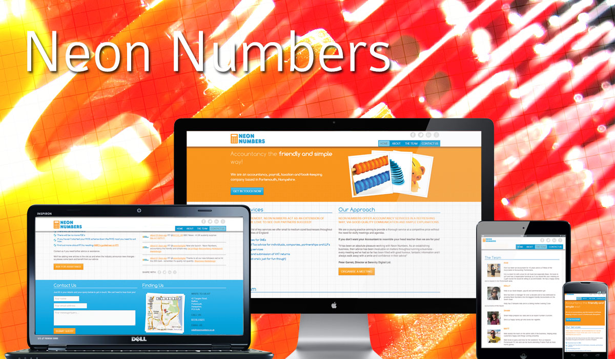 Neon Numbers Website