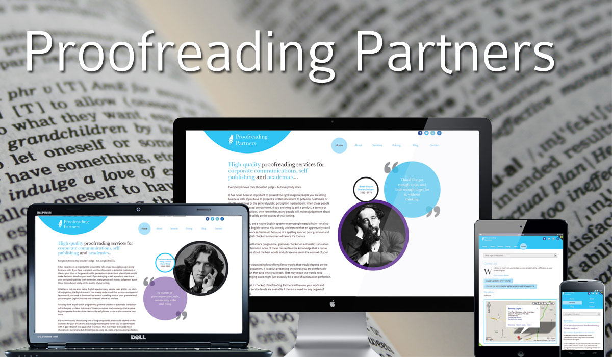 Proofreading Partners Website