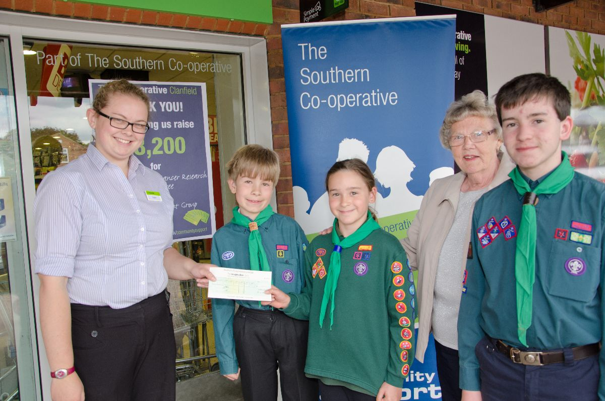 Clanfield Scouts Donation