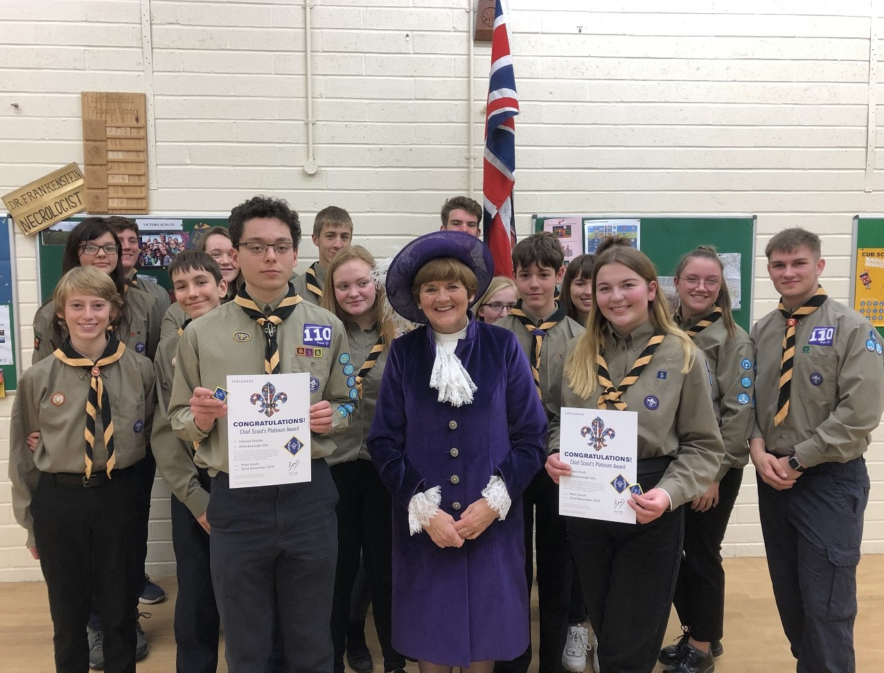 Platinum Awards for Clanfield Explorer Scouts