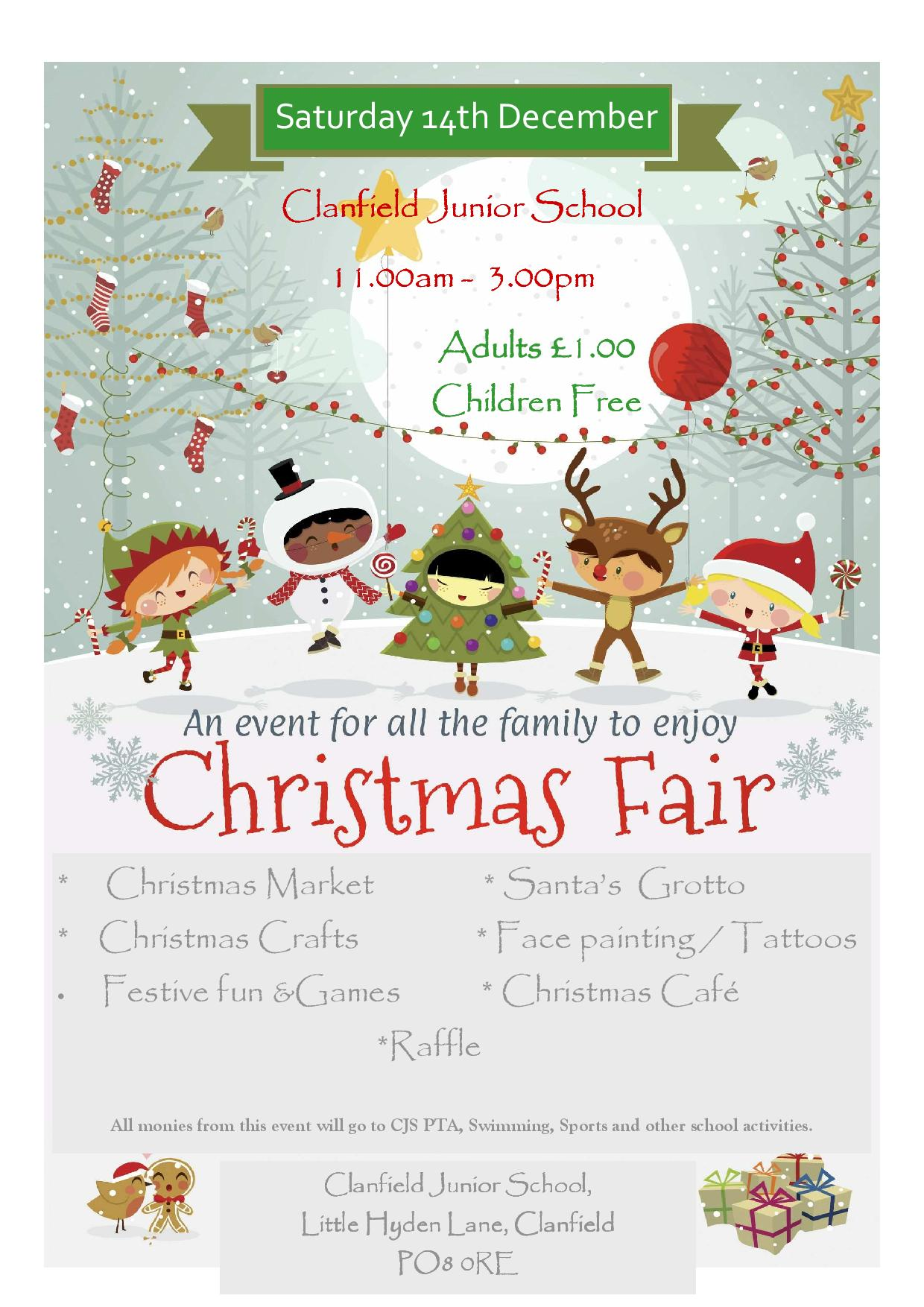Christmas Fair at Clanfield Junior School