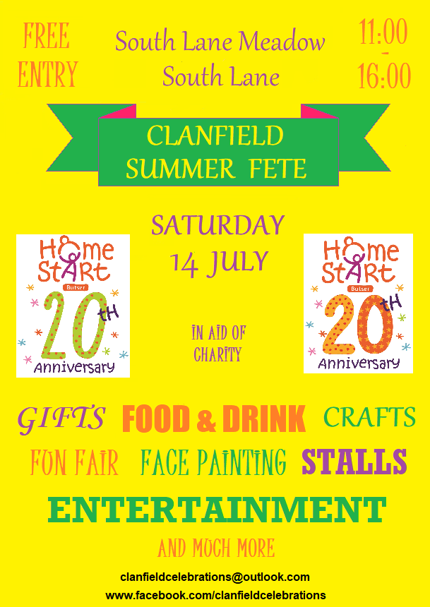 Clanfield Summer Fete – latest information!