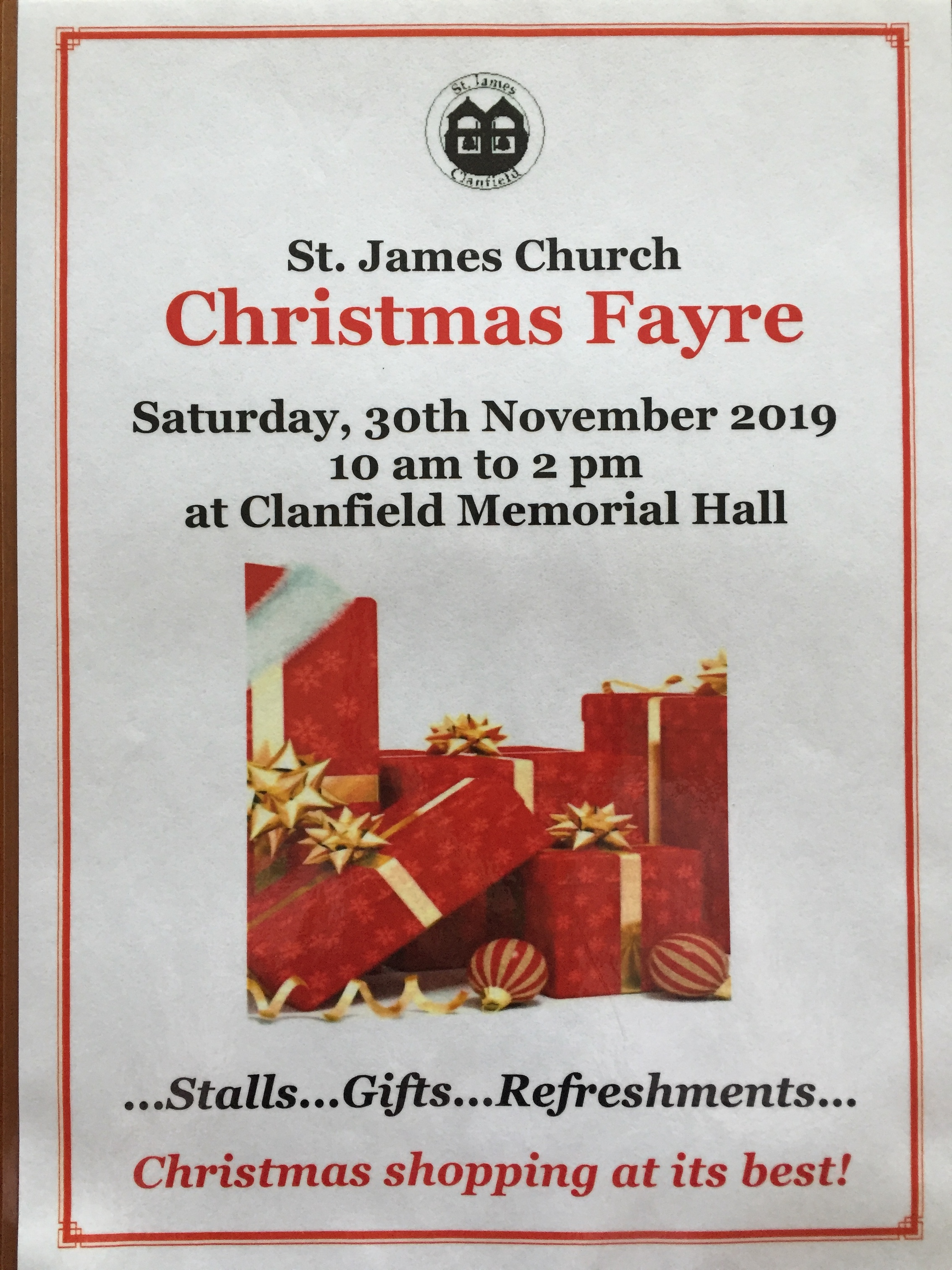 St. James Church Christmas Fayre
