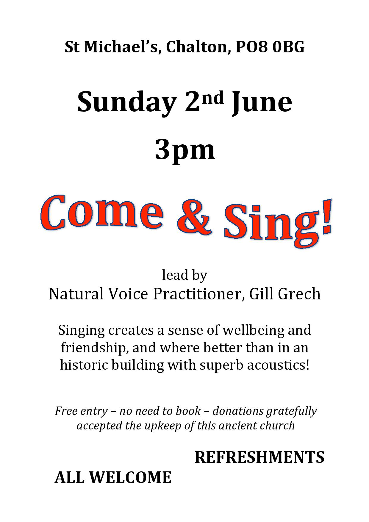 St Michael's Church, Come and Sing