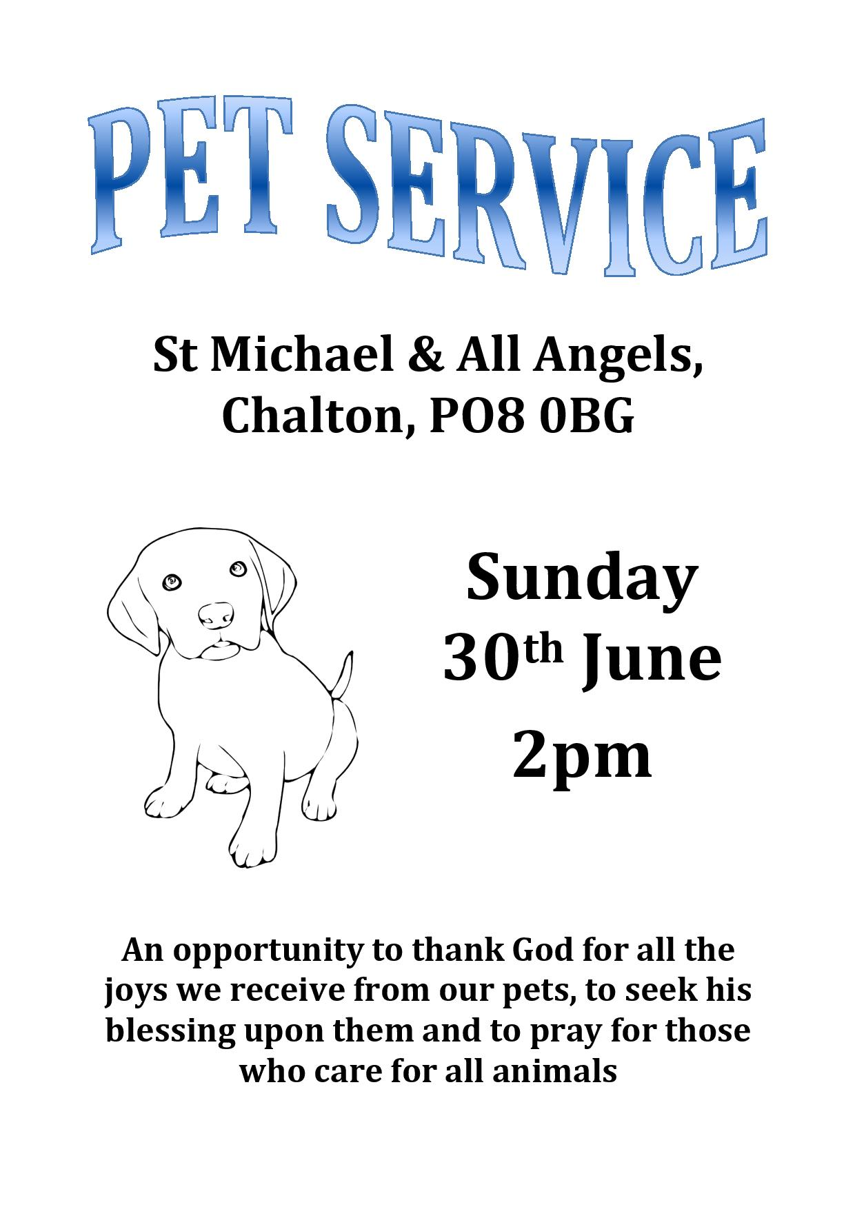St Michael's Church, Pet Service