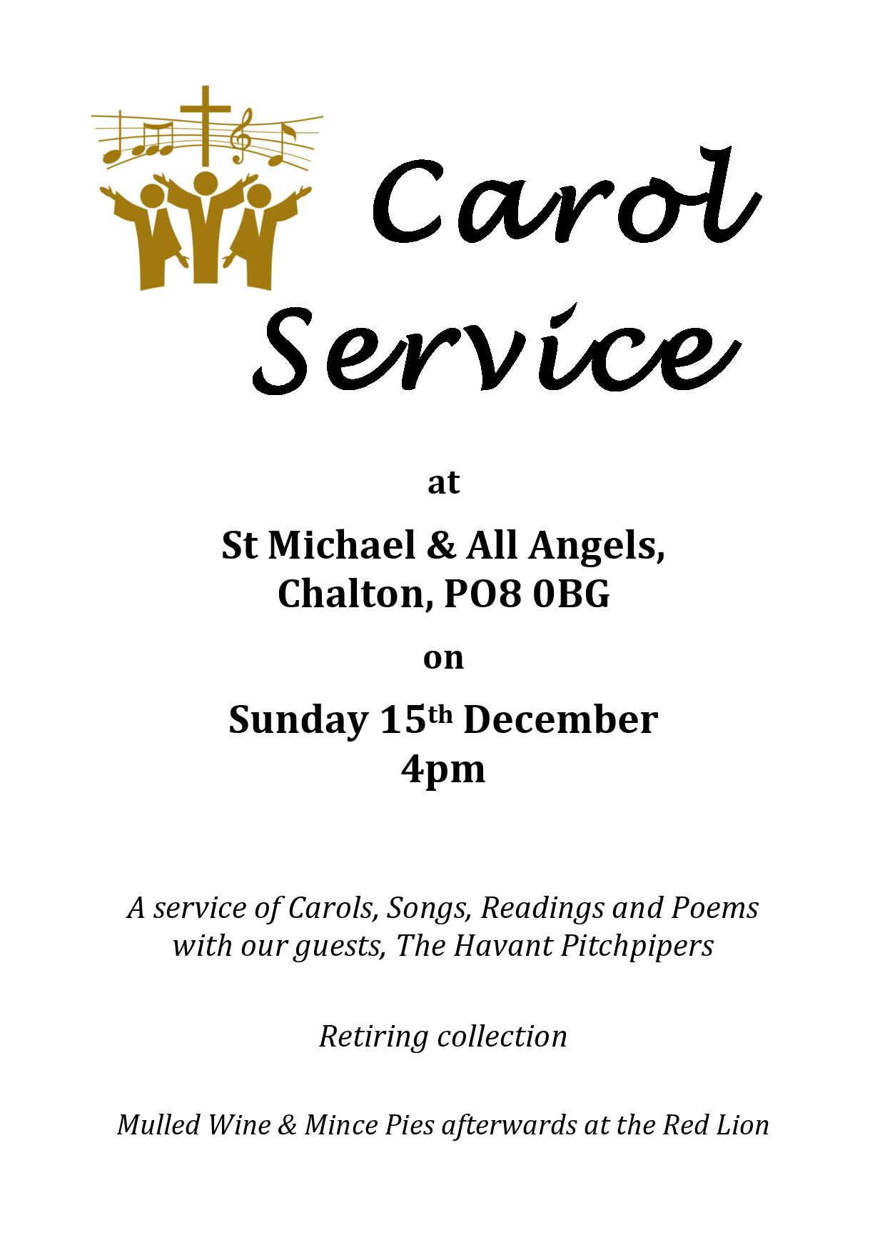 St Michael's Church, Carol Service