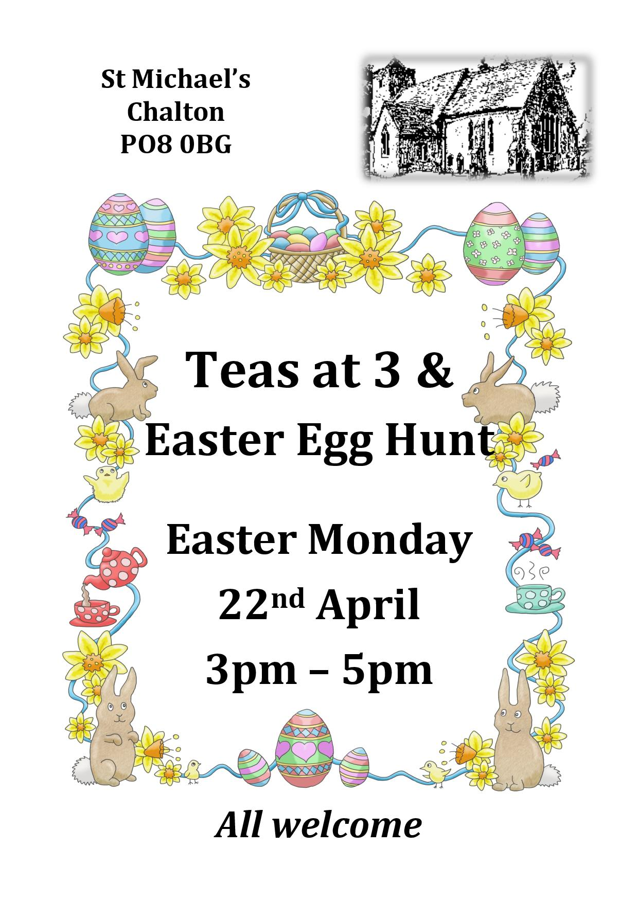 St Michael's Church,Teas at Three and Easter Egg Hunt