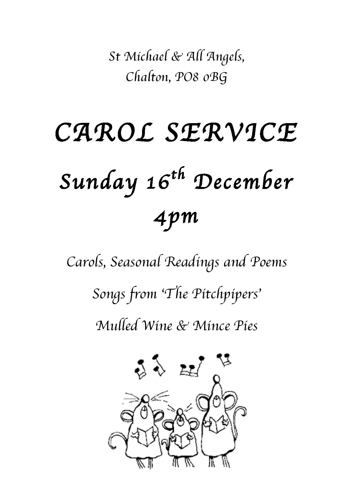 Christmas Carol at St Michael and All Angels Church, Chalton