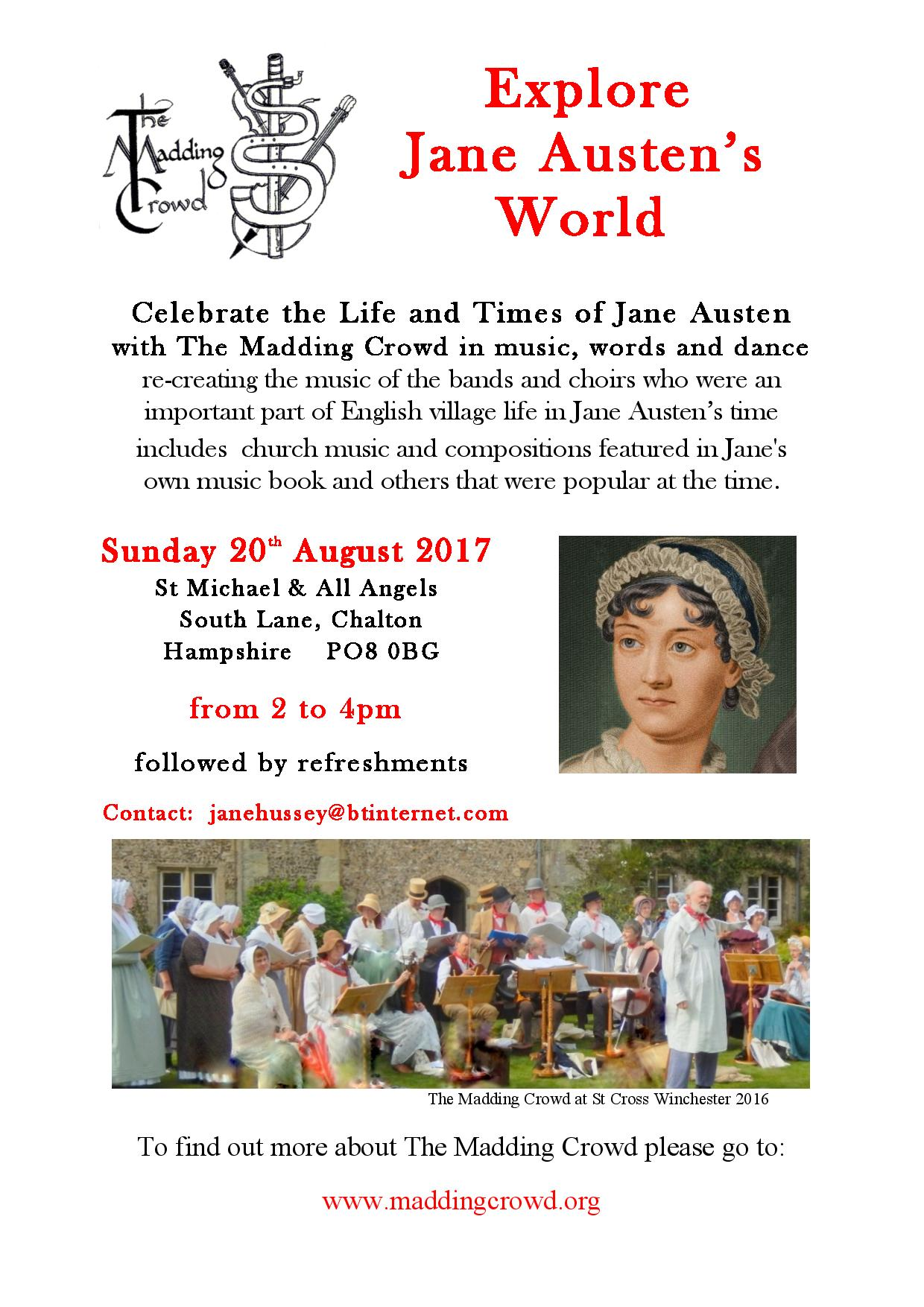 St Michael's Church, Celebrate the Life and Times of Jane Austen