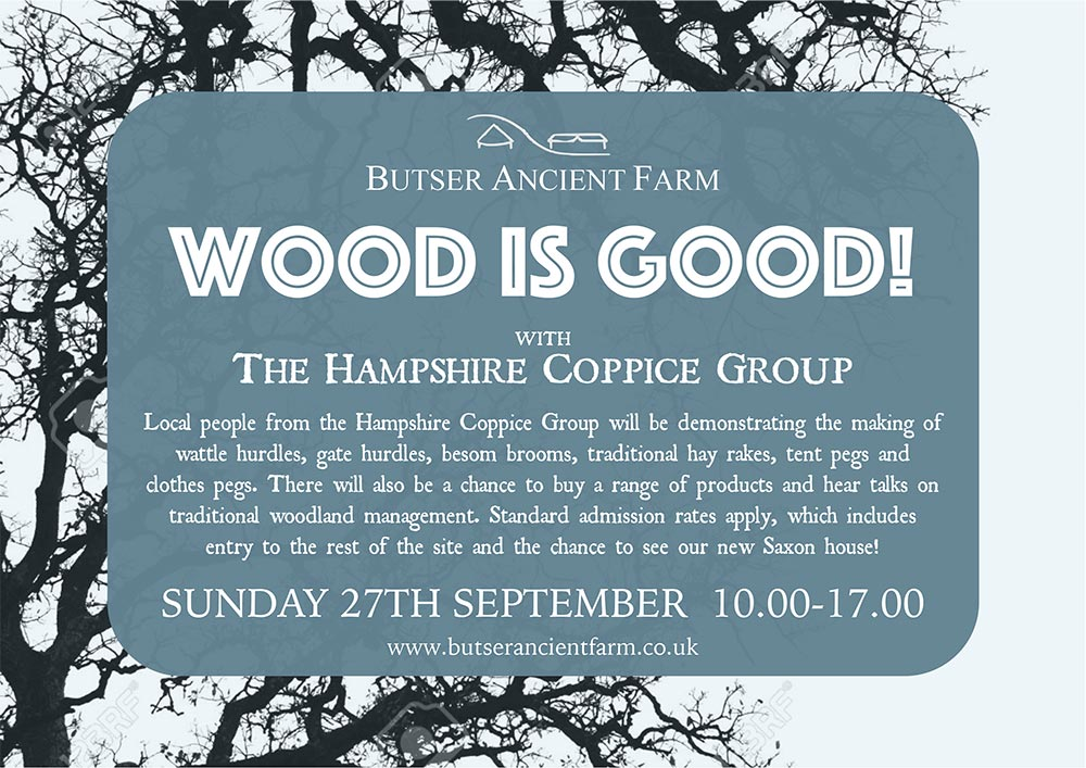 Butser Ancient Farm Wood is Good Poster