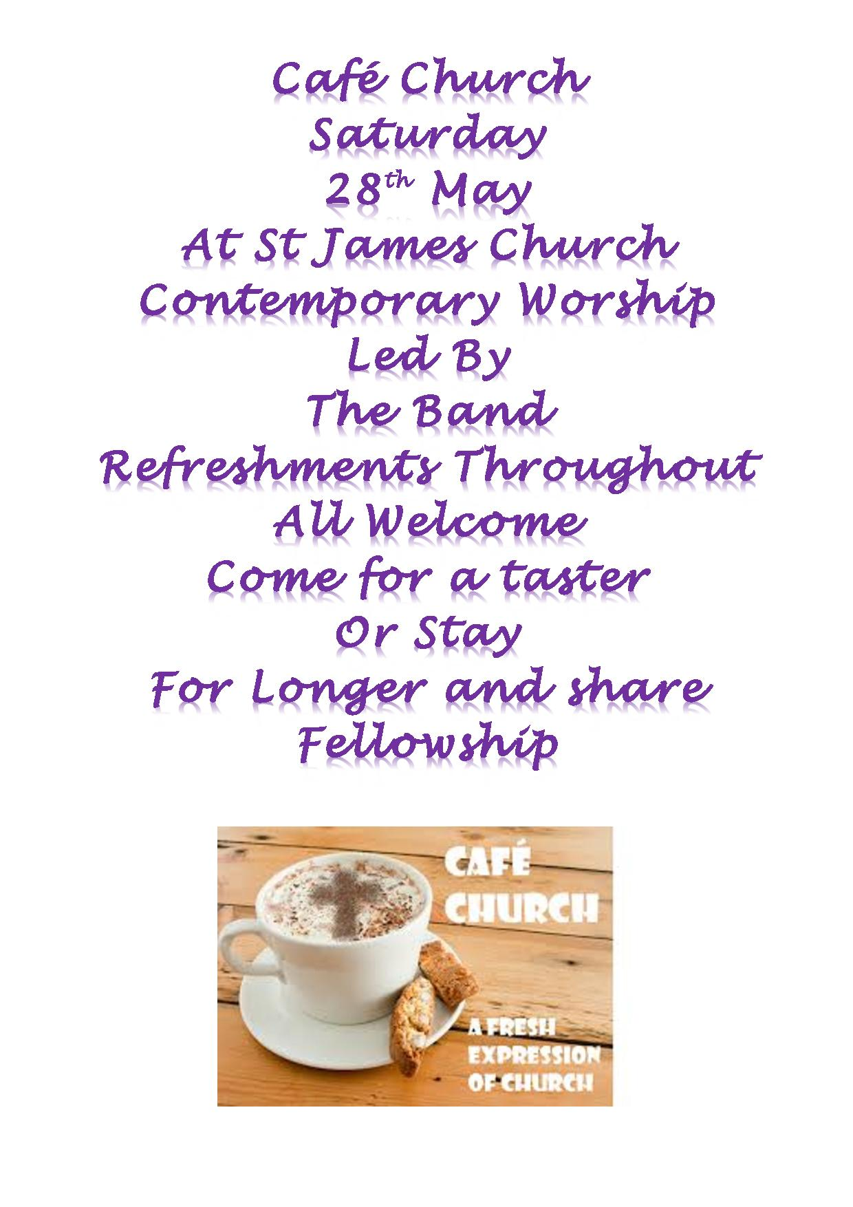 cafe church poster