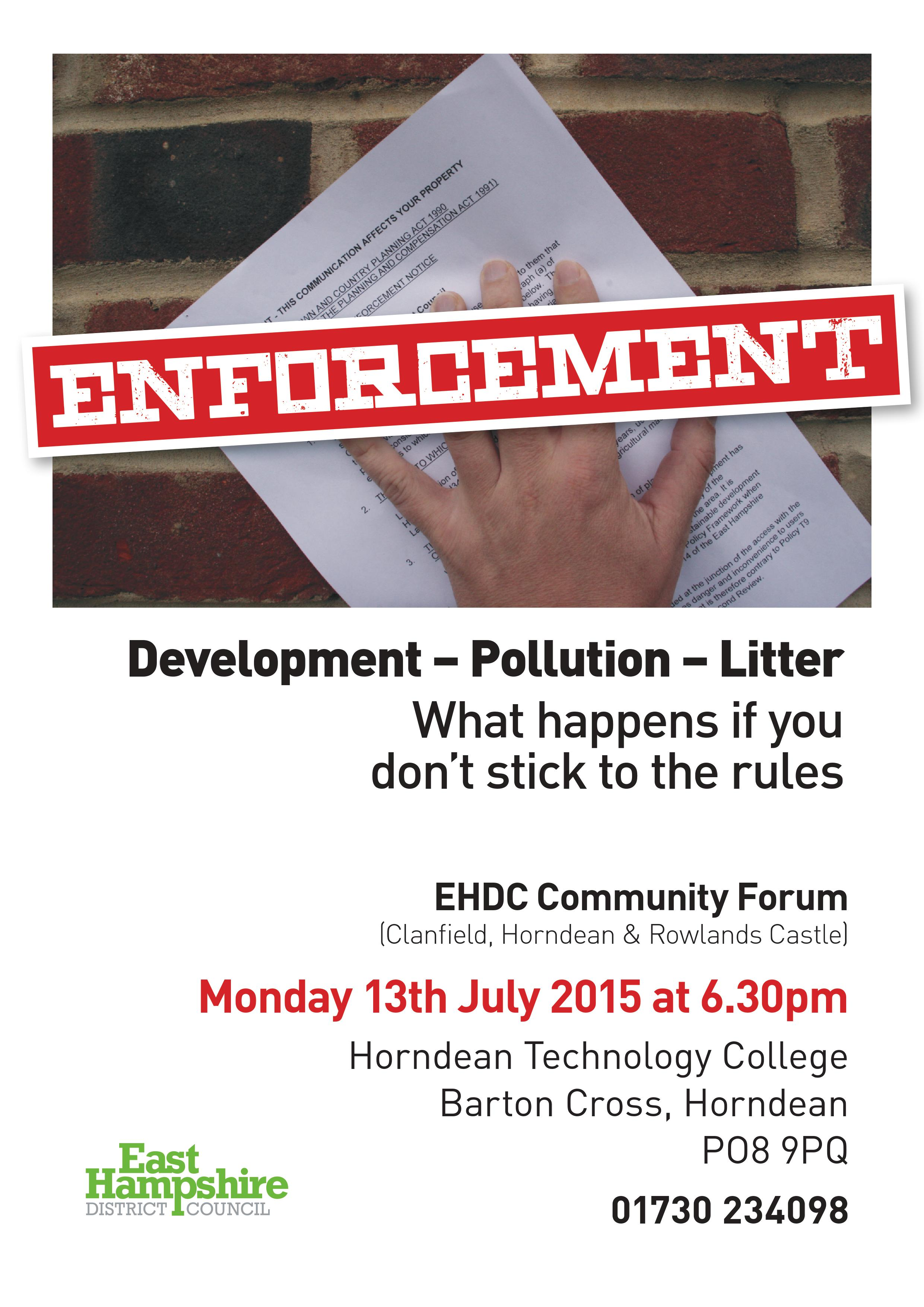 EHDC Community Forum Meeting - Enforcement Rules