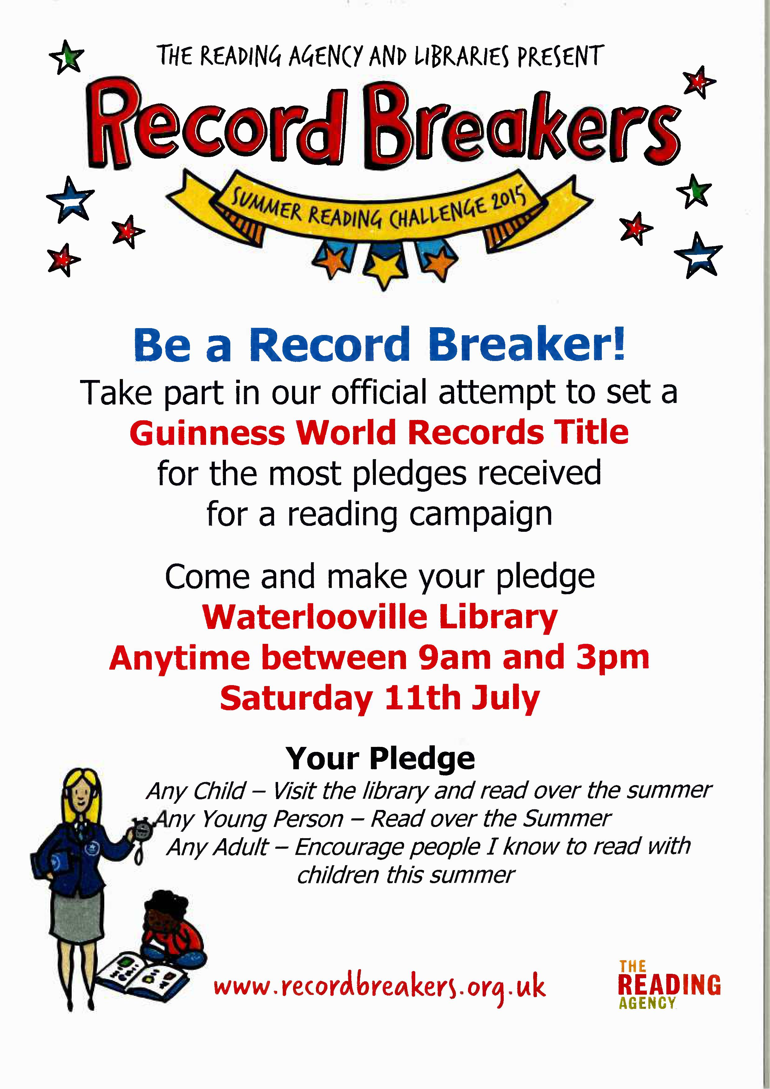 Be a Record Breaker at Waterlooville Library!
