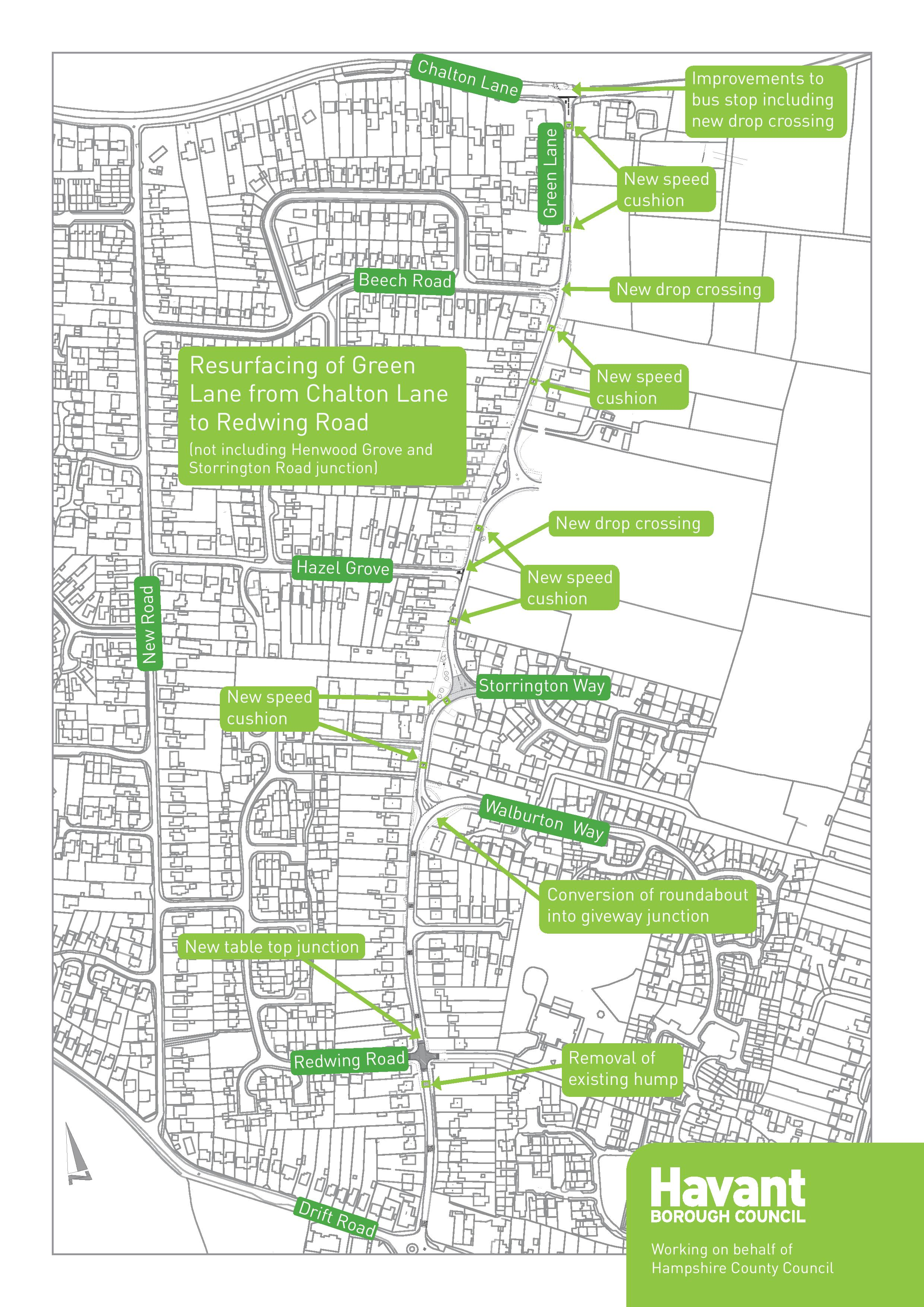 Green Lane Traffic Calming work - New News