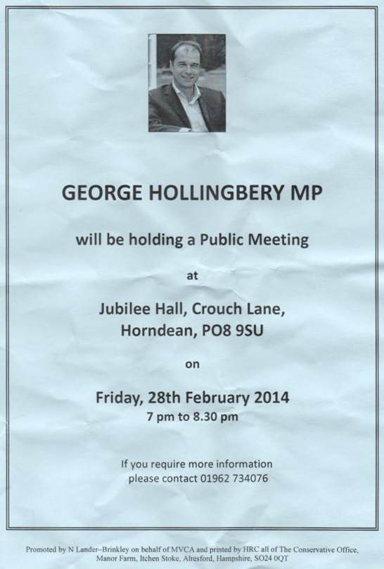 Public Meeting with George Hollingbery MP